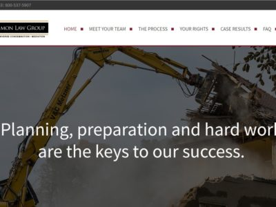 Brent Simon Law - Safety Harbor Web Design client