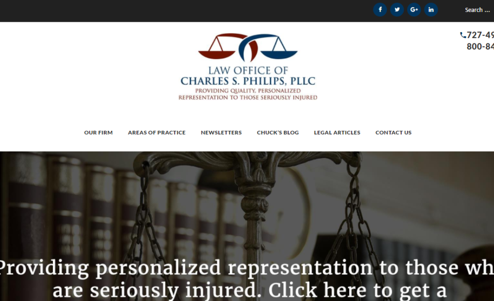 Law Office of Charles Philips - New Port Richey SEO and Web Design client