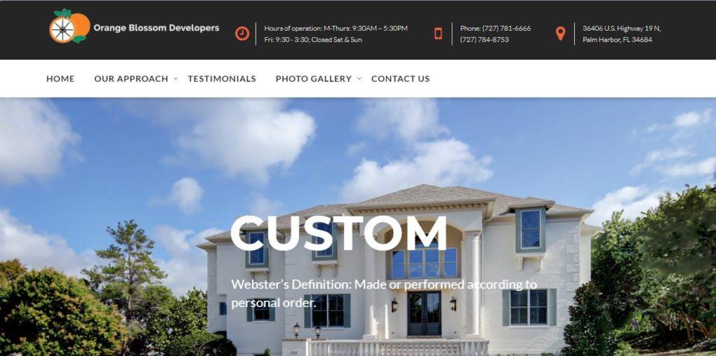 Orange Blossom Developers - New Port Richey Web Design client