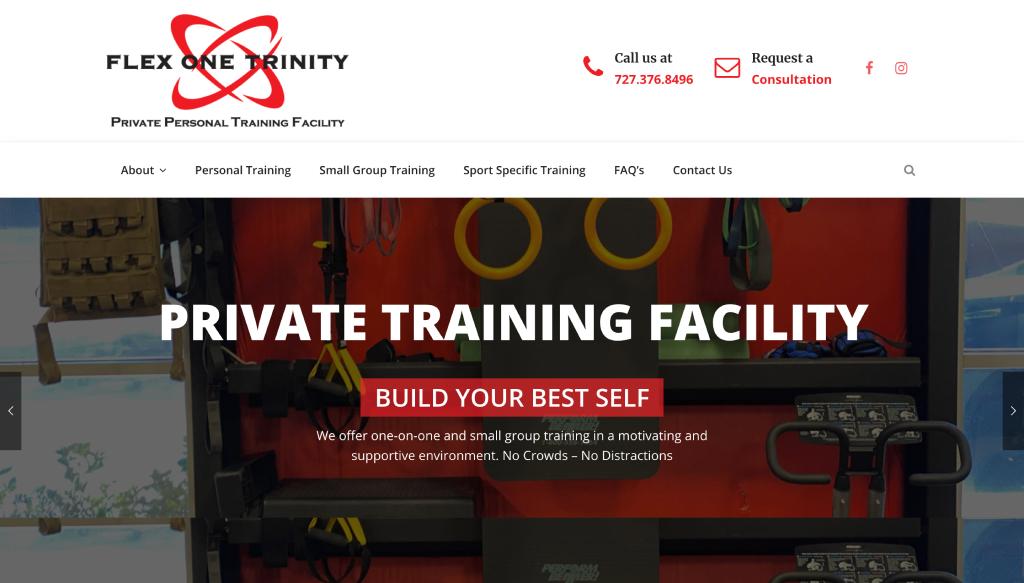 Flex One Trinity - Trinity Website Design client