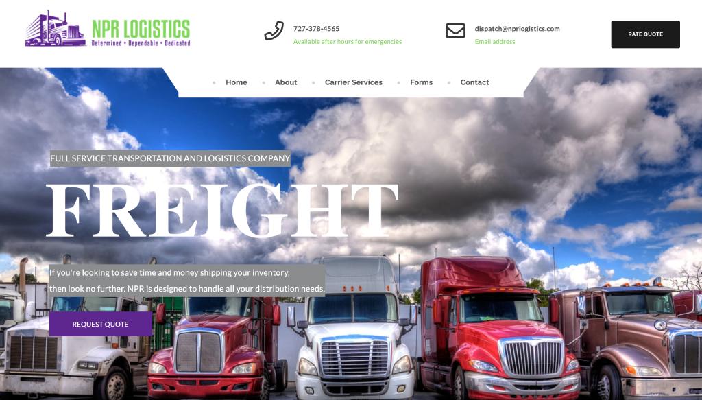 NPR Logistics - New Port Website Design client